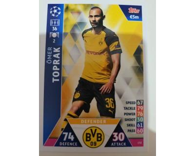Macht Attax Champions League 2019 TOPRAK Nº 132
