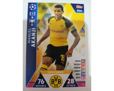 Macht Attax Champions League 2019 AKANJI Nº 133