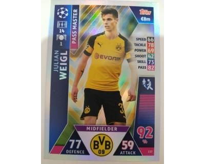 Macht Attax Champions League 2019 WEIGL Nº 137 PASS MASTER