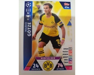 Macht Attax Champions League 2019 GOTZE Nº 138