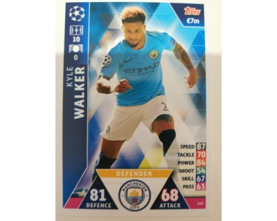 Macht Attax Champions League 2019 WALKER Nº 147