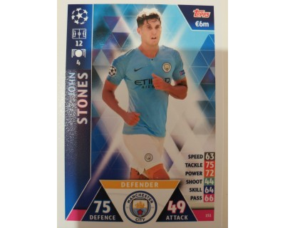 Macht Attax Champions League 2019 STONES Nº 151