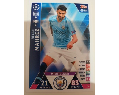 Macht Attax Champions League 2019 MAHREZ Nº 154