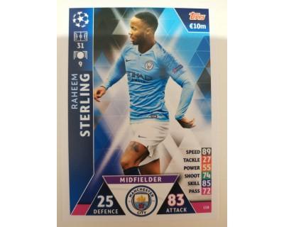 Macht Attax Champions League 2019 STERLING Nº 158