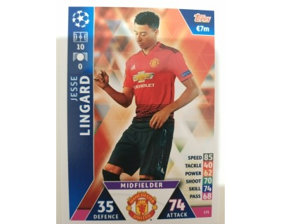 Macht Attax Champions League 2019 LINGARD Nº 171