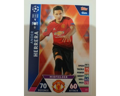 Macht Attax Champions League 2019 ANDER HERRERA Nº 172