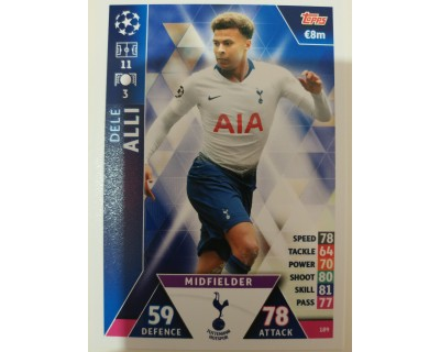 Macht Attax Champions League 2019 ALLI Nº 189