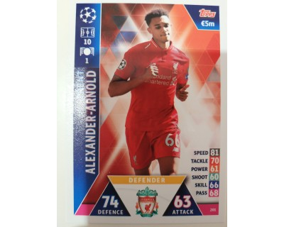 Macht Attax Champions League 2019 ALEXANDER - ARNOLD Nº 201