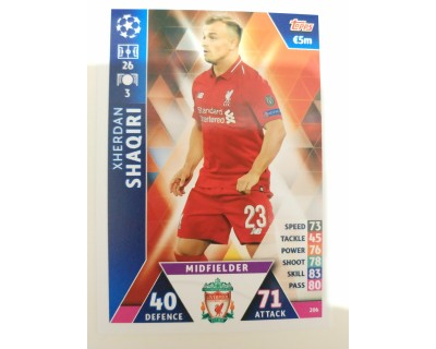 Macht Attax Champions League 2019 SHAQIRI Nº 206