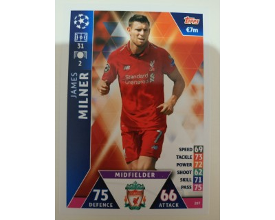 Macht Attax Champions League 2019 MILNER Nº 207