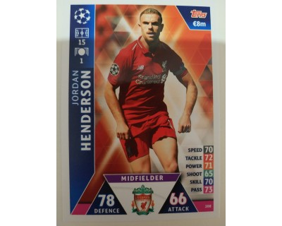 Macht Attax Champions League 2019 HENDERSON Nº 208