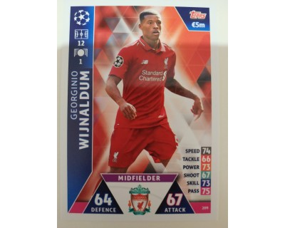 Macht Attax Champions League 2019 WIJNALDUM Nº 209