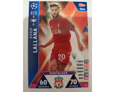 Macht Attax Champions League 2019 LALLANA Nº 211