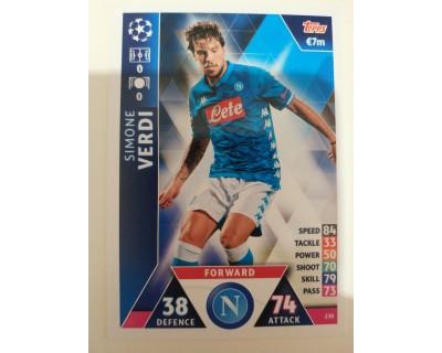 Macht Attax Champions League 2019 VERDI Nº 230