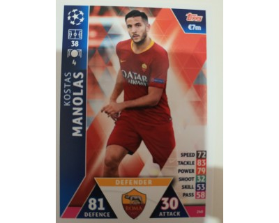 Macht Attax Champions League 2019 MANOLAS Nº 240