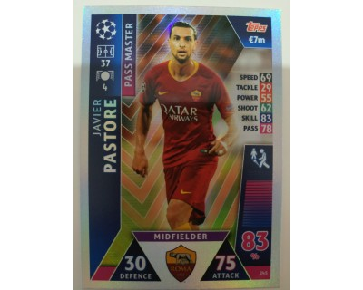 Macht Attax Champions League 2019 PASTORE Nº 245 PASS MASTER