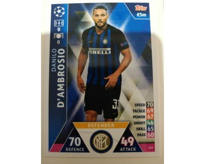 Macht Attax Champions League 2019 D´AMBROSIO Nº 257