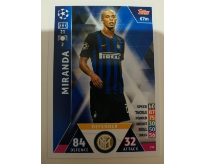 Macht Attax Champions League 2019 MIRANDA Nº 259
