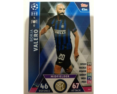 Macht Attax Champions League 2019 VALERO Nº 262