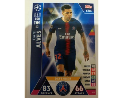 Macht Attax Champions League 2019 ALVES Nº 273