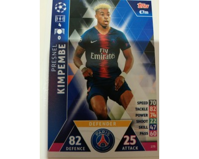 Macht Attax Champions League 2019 KIMPEMBE Nº 275