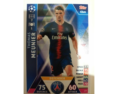 Macht Attax Champions League 2019 MEUNIER Nº 277