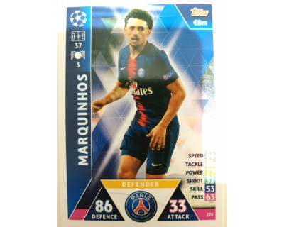 Macht Attax Champions League 2019 MARQUINHOS Nº 278