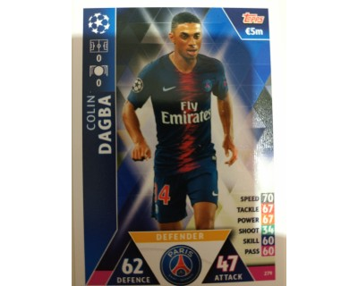 Macht Attax Champions League 2019 DAGBA Nº 279