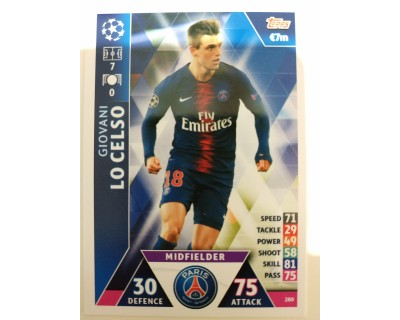 Macht Attax Champions League 2019 LO CELSO Nº 280