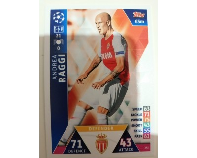 Macht Attax Champions League 2019 RAGGI Nº 292