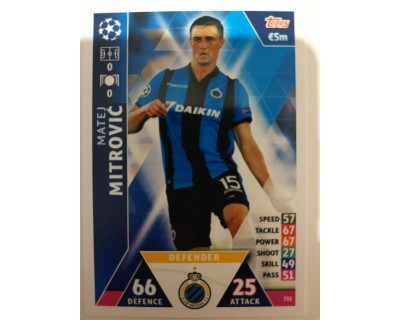 Macht Attax Champions League 2019 MITROVIC Nº 332