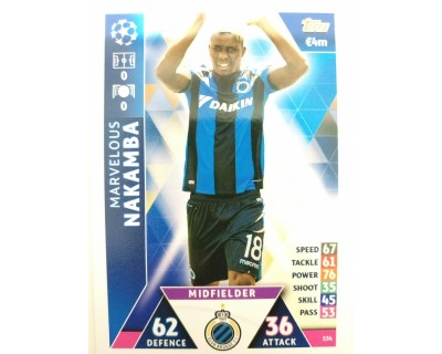 Macht Attax Champions League 2019 NAKAMBA Nº 334