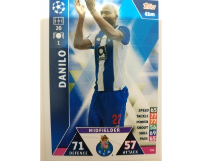 Macht Attax Champions League 2019 DANILO Nº 350
