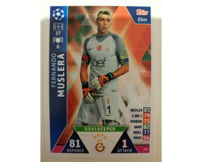 Macht Attax Champions League 2019 MUSLERA Nº 362