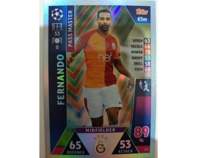 Macht Attax Champions League 2019 FERNANDO Nº 371 PASS MASTER