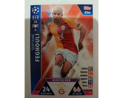 Macht Attax Champions League 2019 FEGHOULI Nº 372