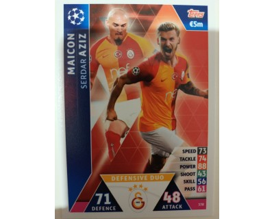 Macht Attax Champions League 2019 DEFENDER DUO Nº 378