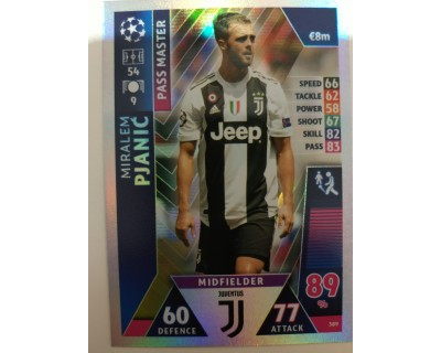 Macht Attax Champions League 2019 PJANIC Nº 389 PASS MASTER