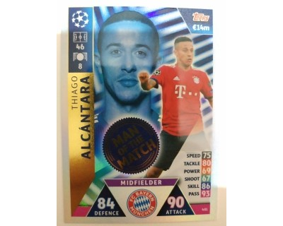Macht Attax Champions League 2019 ALCANTARA Nº 401 MAN OF THE MATCH
