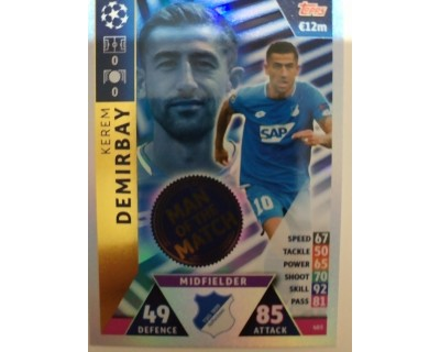 Macht Attax Champions League 2019 DEMIRBAY Nº 403 MAN OF THE MATCH