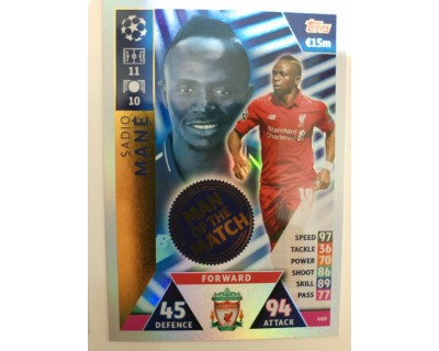 Macht Attax Champions League 2019 MANE Nº 408 MAN OF THE MATCH
