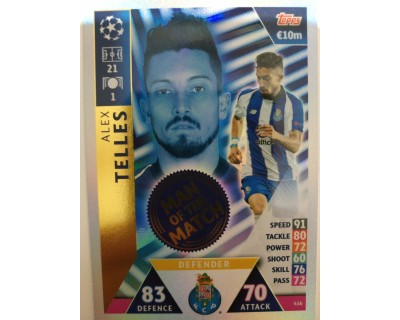 Macht Attax Champions League 2019 TELLES Nº 416 MAN OF THE MACHT