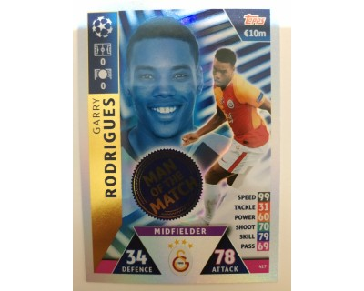 Macht Attax Champions League 2019 RODRIGUES Nº 417 MAN OF THE MATCH