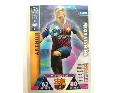 Macht Attax Champions League 2019 ARTHUR Nº 421 MEGA SIGNING