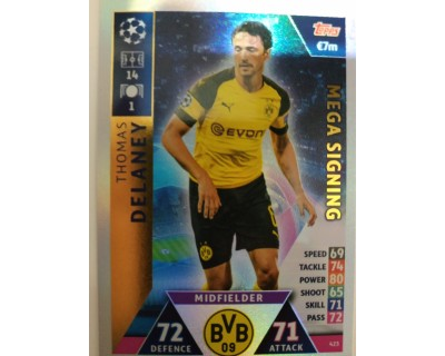 Macht Attax Champions League 2019 DELANEY Nº 423 MEGA SIGNING