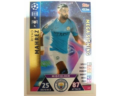 Macht Attax Champions League 2019 MAHREZ Nº 428 MEGA SIGNING