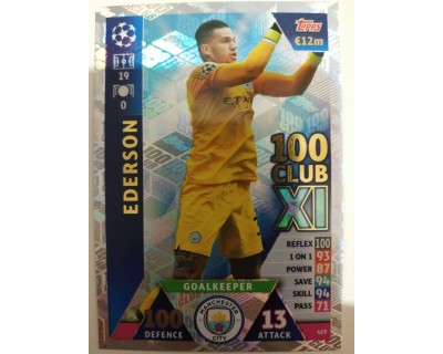 Macht Attax Champions League 2019 EDERSON Nº 429 100 CLUB
