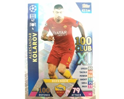 Macht Attax Champions League 2019 KOLAROV Nº 431 100 CLUB