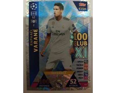 Macht Attax Champions League 2019 VARANE Nº 432 100 CLUB
