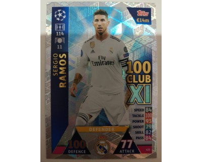 Macht Attax Champions League 2019 SERGIO RAMOS Nº 433 100 CLUB